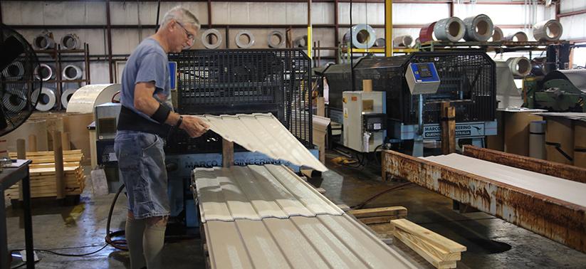 Atlanta Georgia and Valdosta Georgia Industrial Roll Forming Metal Roofing Manufacturer - Metal Panel Embossing