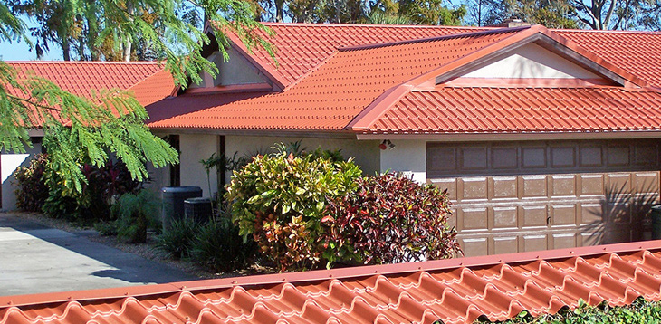 Tile roofing imitation metal roofing metal roofing experts for Mediterranean roof styles