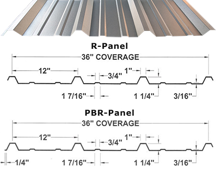 Metal Roof Projects R Panel Pbr Panel Metal Roofing