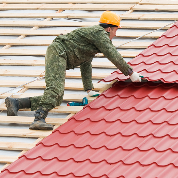 Roofing Work With Metal Tile Advanced Aluminium