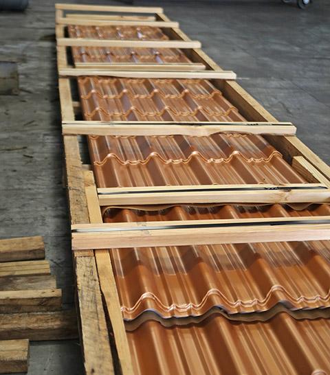 Industrial Imitation Tile Metal Roofing - Metal Tile Roofing - Permatile Metal Roofing Miami Florida