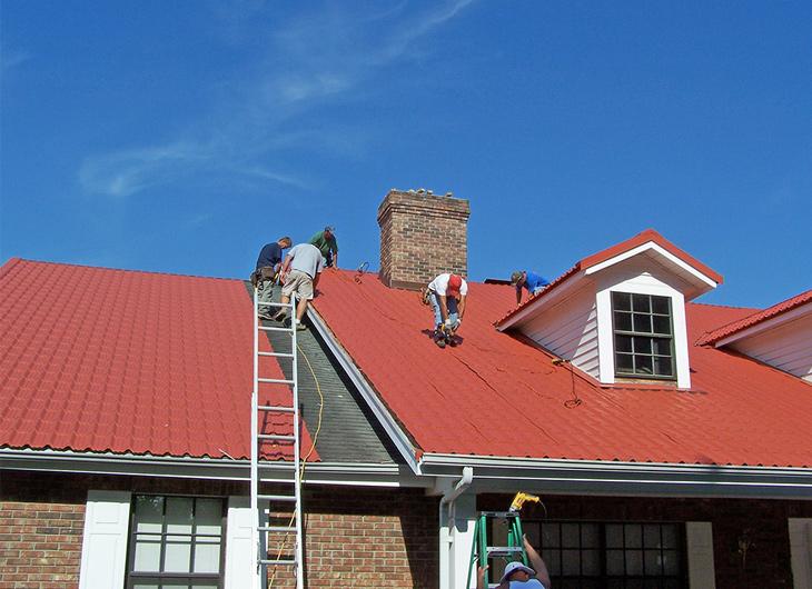 Tampa Florida Residential Imitation Tile Metal Roofing - Metal Tile Roofing - Permatile Metal Roofing