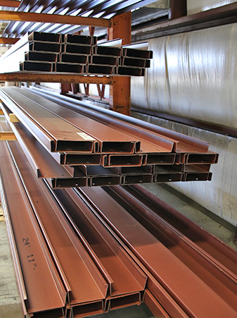 red iron steel sections for metal building construction